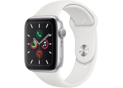 Apple Watch Series 5 40mm Aluminum Silver Sport Band White