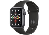 Apple Watch Series 5 40mm Aluminum Space Grey Sport Band Black