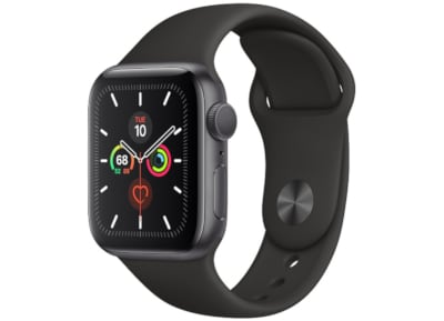 Apple Watch Series 5 44mm Aluminum Space Grey Sport Band Black