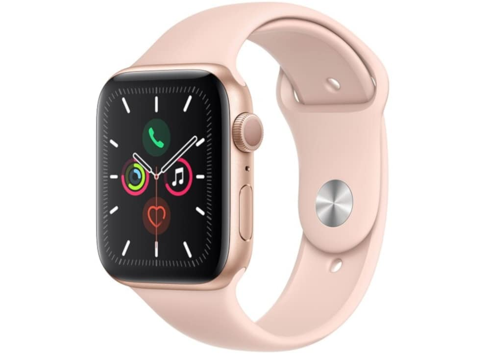 Apple Watch Series 5 44mm Aluminum Gold Sport Band Pink