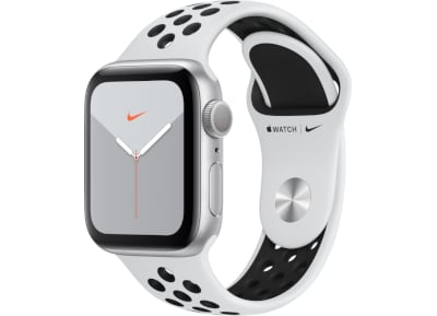 Apple Watch Nike Series 5 44mm Silver Aluminum Black Sport Band