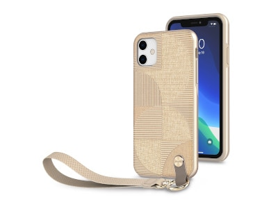 Θήκη iPhone 11 - Moshi Wrist Strap Case -  Μπεζ