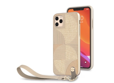 Θήκη iPhone 11 Pro max - Moshi Wrist Strap Case -  Μπεζ