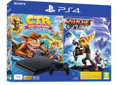 Sony PlayStation 4 - 1TB Slim F Chassis & Crash Team Racing Nitro & Ratchet & Clank