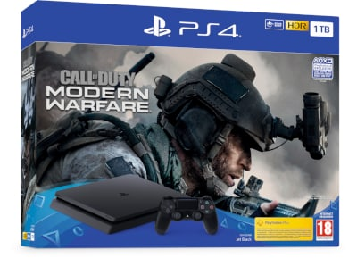Sony PlayStation 4 Slim F Chassis - 1 TB & Call Of Duty: Modern Warfare
