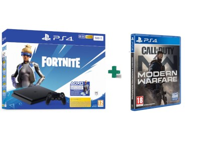 Sony PlayStation 4 - 500GB Slim F Chassis Fortnite Neo Versa bundles & Call Of Duty Modern Warfare