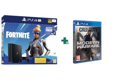 Sony PlayStation 4 Pro 1TB Fortnite Neo Versa bundles & Call Of Duty Modern Warfare