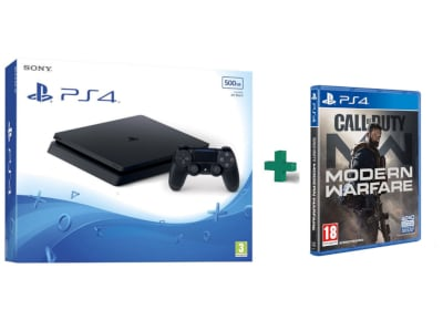Sony PlayStation 4 - 500GB Slim F Chassis  & Call Of Duty Modern Warfare