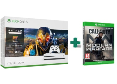 Microsoft Xbox One S White - 1TB & Anthem & Call Of Duty Modern Warfare