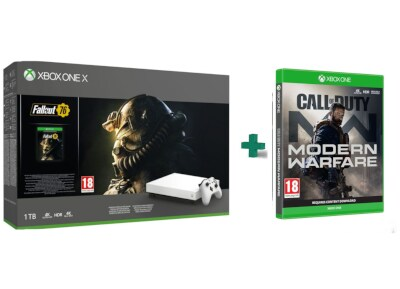 Microsoft Xbox One X 1TB & Fallout 76 & Call Of Duty Modern Warfare