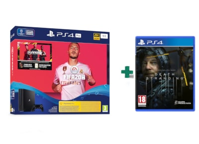 Sony PlayStation 4 Pro - 1TB & Fifa 20 & Death Stranding