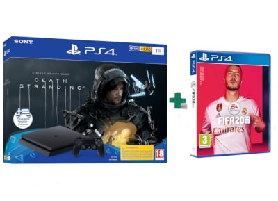 Sony PlayStation 4 Slim F Chassis - 1 TB & Death Stranding & Fifa 20
