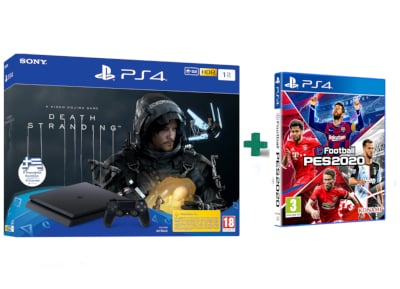 Sony PlayStation 4 Slim F Chassis - 1 TB & Death Stranding & eFootball Pro Evolution Soccer 2020