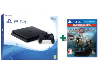 Sony PlayStation 4 - 500GB Slim F Chassis  & God Of War (Hits)