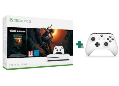 Microsoft Xbox One S White - 1TB & Shadow of the Tomb Raider...