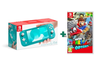 Nintendo Switch Lite Turquise - Κονσόλα Nintendo & Super Mario Odyssey
