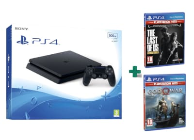 Sony PlayStation 4 - 500GB Slim D Chassis & God Of War Playstation Hits & The Last Of Us Playstation Hits