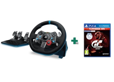 Logitech G29 Driving Force - Τιμονιέρα PS4/PS3/PC & Gran Turismo Sport Playstation Hits