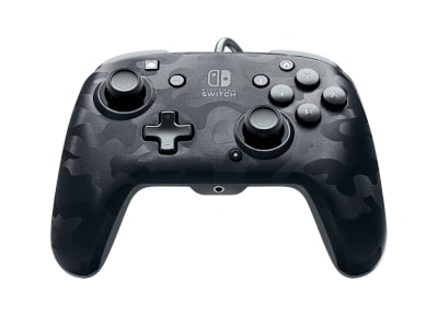 Gaming Controller PDP Wired Nintendo Switch Faceoff Deluxe - Black Camo