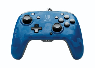 Gaming Controller PDP Wired Nintendo Switch Faceoff Deluxe - Blue Camo