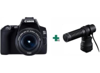DSLR Canon EOS 250D & Φακός 18-55mm IS STM & Μικρόφωνο Canon DM-E100
