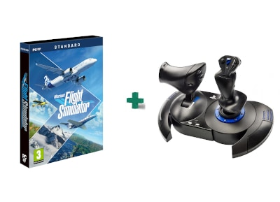 Microsoft's Flight Simulator 2020 – PC Game + Thrustmaster T.Flight HOTAS4