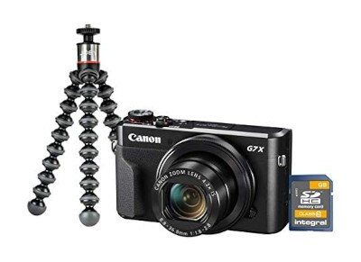 Compact Camera Canon PowerShot G7X II - Vlogging kit - Μαύρο