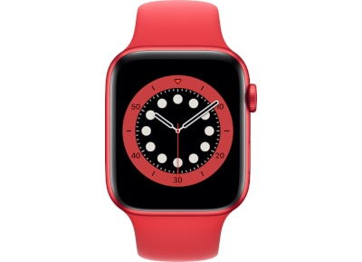 Apple Watch Series 6 44mm Aluminum Product Red Sport Band