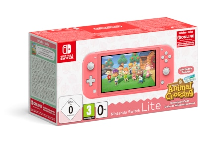 Nintendo Switch Lite Coral - Κονσόλα Nintendo & Animal Crossing New Horizons & 3 Months Nintendo Subscription