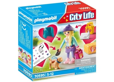 PLAYMOBIL City Life Fashion Girl Με Σκυλάκι 70595