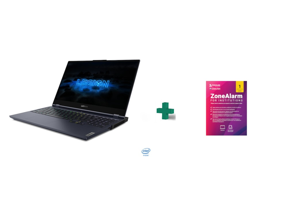 "Laptop Lenovo Legion 7 15"" ( Intel I7-10875H/32GB/1TB/GeForce RTX2070) + Antivirus ZoneAlarm για 2 έτη"