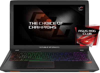 "Laptop Asus Rog Strix 15.6""  (i7-7700HQ/8GB/1TB & 128GB SSD/GTX 1050 Ti 4GB) GL553VE-FY082T"