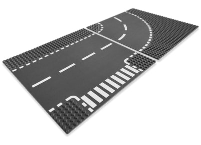 LEGO® 7281 T-Junction & Curved Road Plates