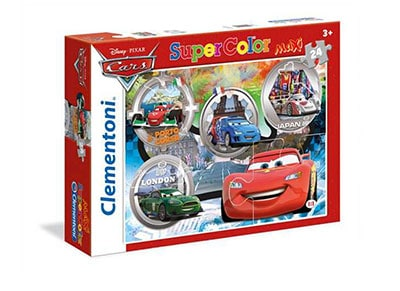 Παζλ Disney Cars World Gran Prix Super Color Disney (3x48 Κομμάτια)