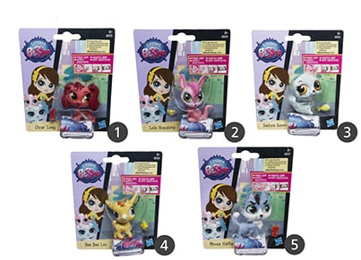 Littlest Pet Shop Φιγούρες Get The Pets Single B (1 τεμάχιο)