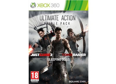 Ultimate Action Pack (Just Cause 2 & Sleeping Dogs & Tomb Raider) - Xbox 360 Game