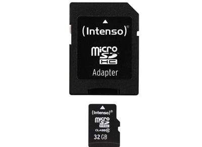 Κάρτα μνήμης microSDHC 32GB Class 10 & SD Adapter - Intenso 3413480
