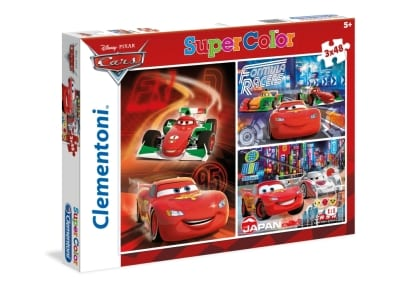 Παζλ Disney Cars Super Color Disney (3x48 Κομμάτια)