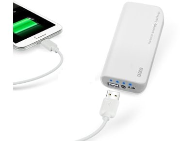 Powerbank SBS Portable Battery Backup 5000 mAh Λευκό