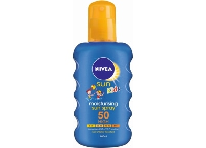 Αντηλιακό Nivea Kid's Moisturising Colour Spray SPF 50+ 200ml