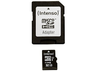 Κάρτα μνήμης microSDHC 32GB Class 10 & SD Adapter - Intenso 3423480