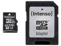 Κάρτα μνήμης microSDHC 32GB Class 10 & SD Adapter - Intenso 3433480