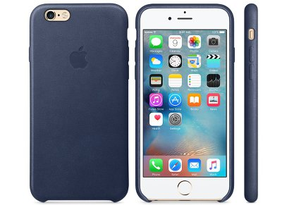 Θήκη iPhone 6/6S - Apple Leather Case Midnight Blue (MKXU2ZM/A)