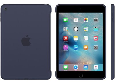 Apple Silicone Case - Θήκη iPad mini 4 Midnight Blue (MKLM2ZM/A) tablets   αξεσουάρ   θήκες