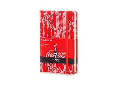 Σημειωματάριο Moleskine Limited Edition Coca-Cola Ruled Hard Red - Small