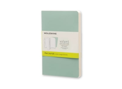 Σημειωματάριο Moleskine Volant Journal Plain Green - Pocket (2 Τεμάχια)