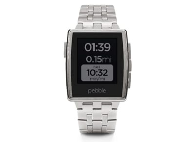 Smartwatch Pebble Steel Stainless Steel Ασημί