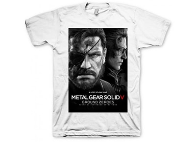 T-Shirt Gaya Metal Gear Solid 5 Ground Zeroes Λευκό - M gaming   gaming cool stuff   t shirts   φούτερ