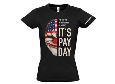 9db6d1a9760d T-Shirt Gaya Payday 2 Dallas Mask Γυναικείο Μαύρο - L