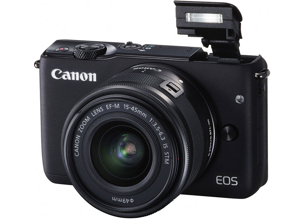 Mirrorless Camera Canon EOS M10 15-45mm Kit - Μαύρο